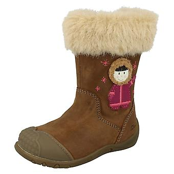 Cuir Clarks première filles bottes esquimau fourrure