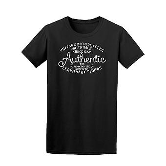 Authentic Vintage Motorcycles Tee Men's -Image by Shutterstock