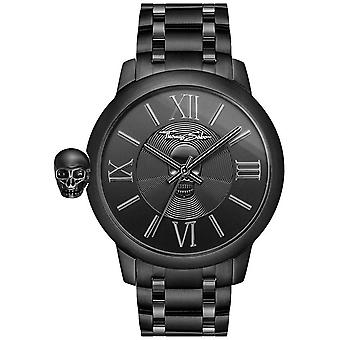 Thomas Sabo Men's Rebel With Karma Black IP Stainless Steel Skull WA0305-202-203