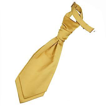Gold Plain Satin Hochzeit bereits gebundene Krawatte für jungen