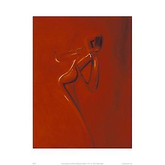 Golden Trumpet Poster Print by Patrick Ciranna (16 x 20)