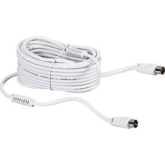 BKL Electronic Antennas Cable [1x Belling-Lee/IEC plug 75Ω - 1x Belling-Lee/IEC socket 75Ω] 7.50 m 90 dB White