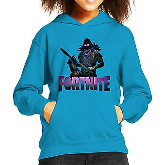 Fortnite Raven Haut mit Waffe Kind das Sweatshirt mit Kapuze