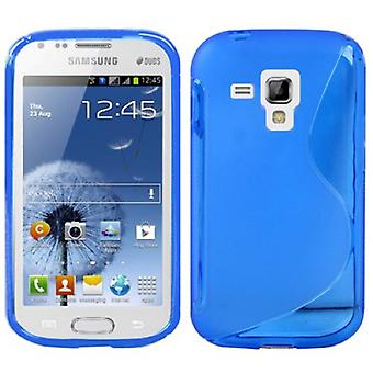 Mobiele case TPU case voor Samsung Galaxy Galaxy trend duos S7562 S7580 S7582 blauw