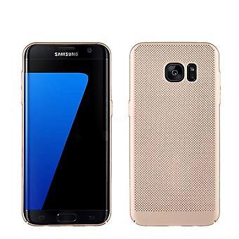 قضية الهاتف الخليوي سامسونج Galaxy S7 كم كيس حالة غطاء الذهب القضية