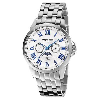 ORPHELIA Mens Multi Dial Watch Bella Luna prata inox 122-7705-88