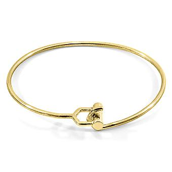 Anchor & Crew Hardy Buckle Midi Geometric 9ct Yellow Gold Bangle