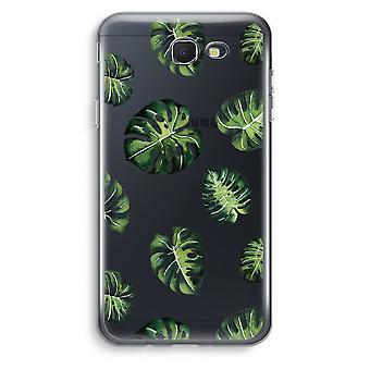 Samsung Galaxy J7 Prime (2017) Transparent Case (Soft) - Tropical leaves