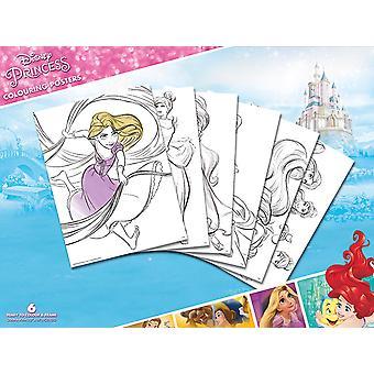 Disney Princess Poster zum Ausmalen (6 Ausmalposter) 30x40cm, in bedrucktem Pappumschlag.