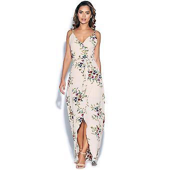 Floral Wrap Maxi kjole