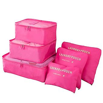 Organizing set for suitcases-dark pink