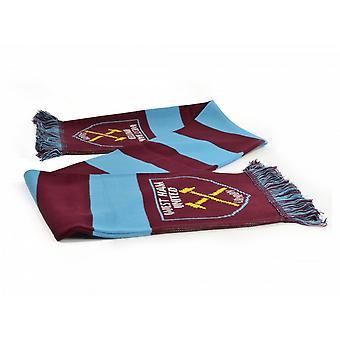 West Ham FC oficial futebol Jacquard Bar cachecol