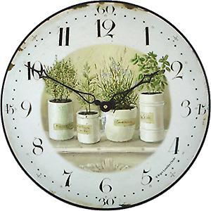 Roger Lascelles Herb Pots Wall Clock - 36cm