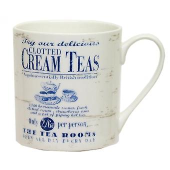 ECP Mug CAJ40GD  White  With Cream Teas Design
