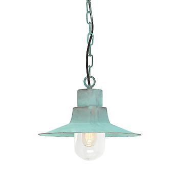 Sheldon vert-de-gris plafond extérieur Lanterne en chaîne - Elstead éclairage Sheldon Ch V