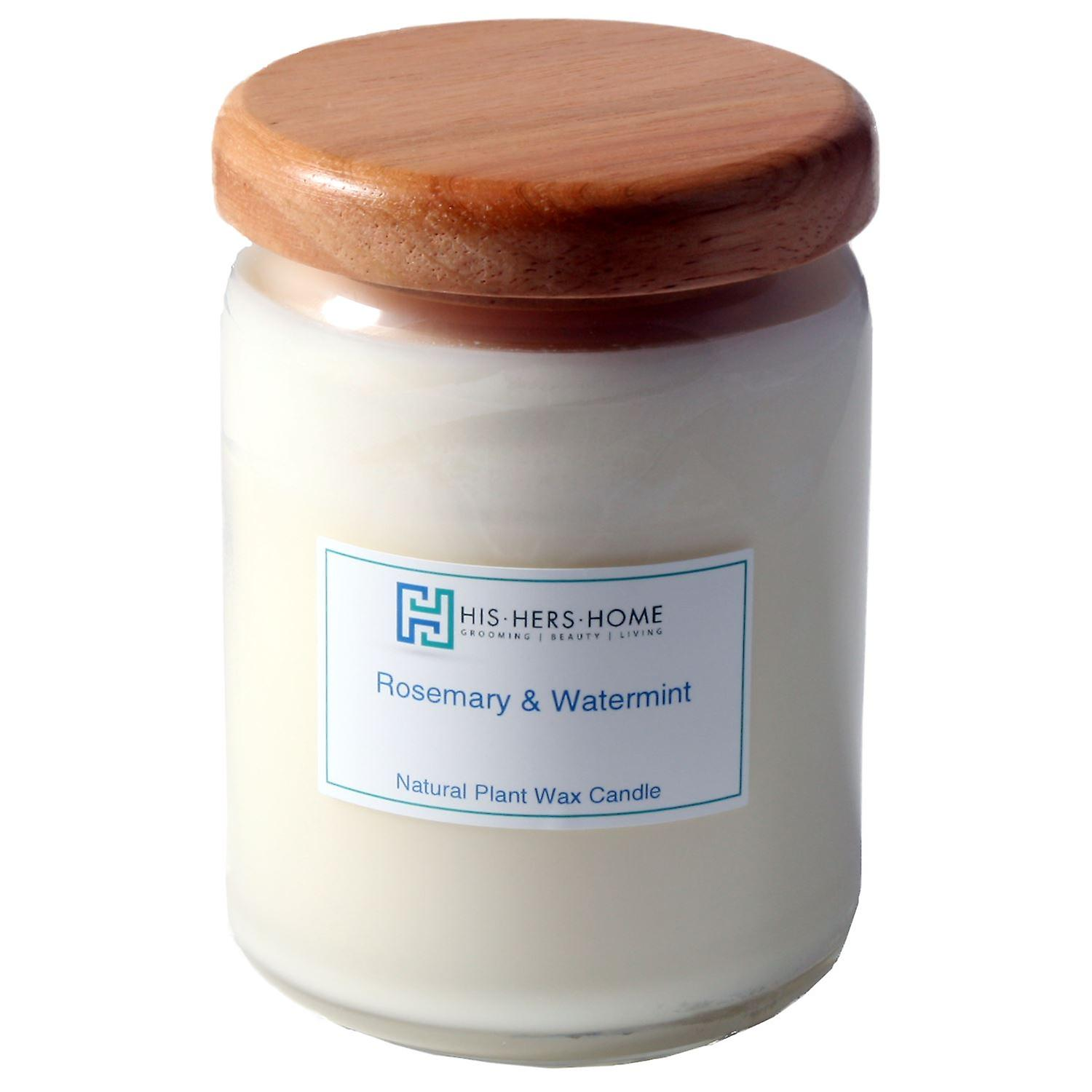 HisHersHome Natural Plant Wax Large Large Candle - Roasemary & Watermint