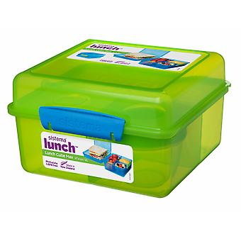 Sistema Lunch moduł Max Lunch Box z jogurt Pot, zielony
