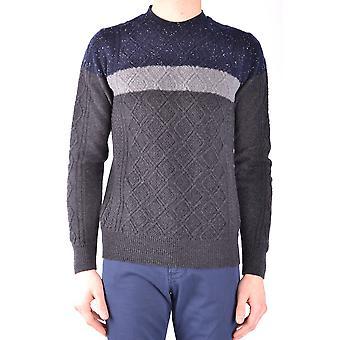 Paolo Pecora Ezbc059014 Men's Grey Wool Sweater