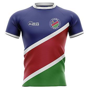 2019-2020 Namibia Flagge Konzept Rugbyshirt