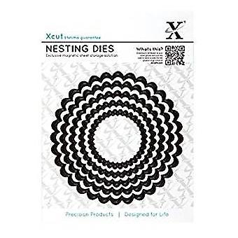 Xcut Nesting Dies (5pcs) - Scalloped Circle  (XCU 503408)