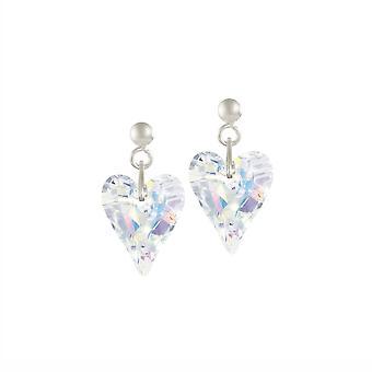 Wieczne kolekcji dzikiego serca Aurora Borealis Crystal srebrne spadek kolczyki Kolczyki
