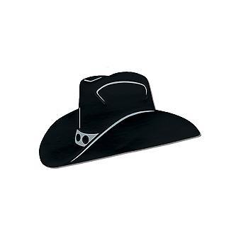 Folie cowboy hoed silhouet