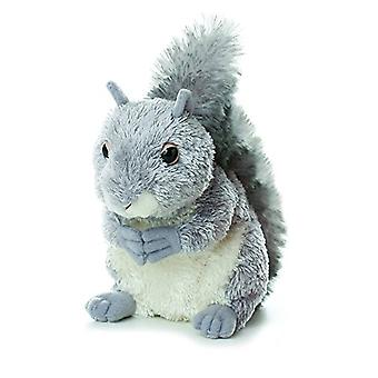 Aurora World Mini Flopsie Plush Nutty the Gray Squirrel, 6.5""
