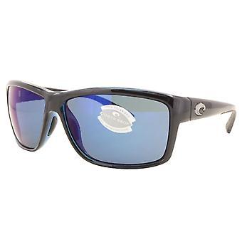 Costa Del Mar Mag Bay polarisiert glänzende schwarze Sonnenbrillen - AA-11-OBMP