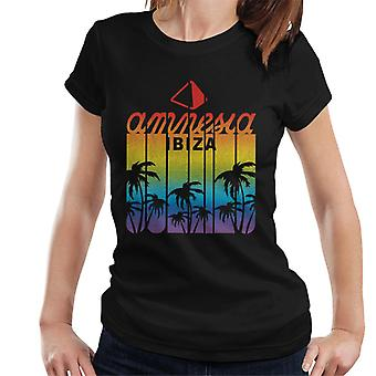 Amnesia Ibiza Retro Multicolour Logo Women's T-Shirt