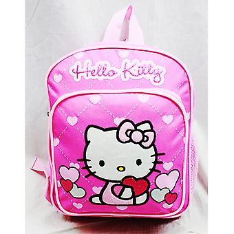 Mini Backpack Hello Kitty Glitter Heart Pink School Bag 10