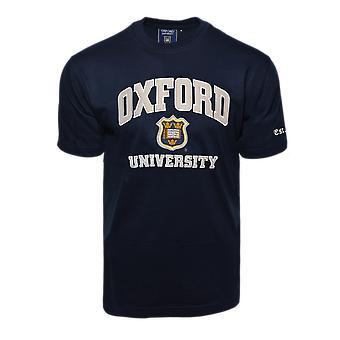 Unisex Oxford University™ applique geborduurd t shirt Navy