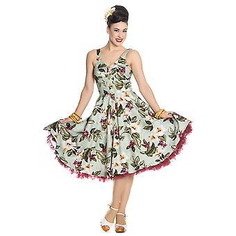 Hell Bunny Green Tahiti 50's Dress XS
