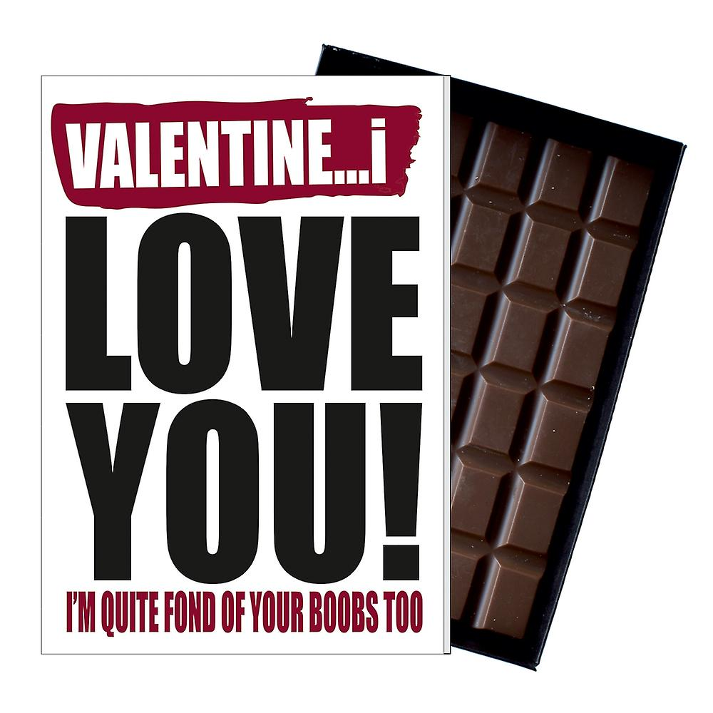 Funny Valentine?s Day Gift A Rude Naughty Present for Women 85g Chocolate Card IYF125