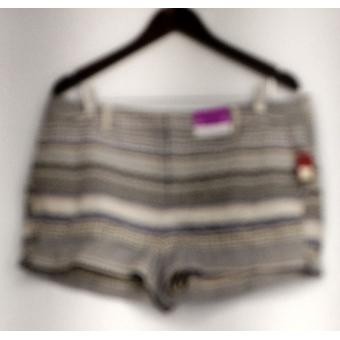Merona Shorts Striped Printed w/ Pockets Beige Womens