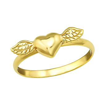Winged Heart - 925 Sterling Silver Plain Rings - W4581x