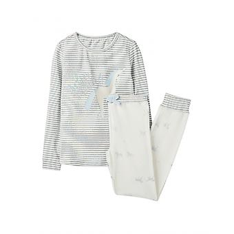Joules Sleepwell Childrens Pyjama Set - Silver Believe Unicorn