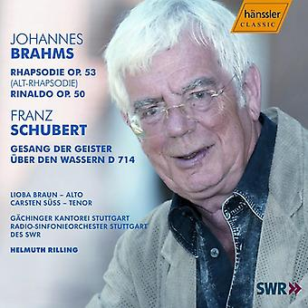 J. Brahms - Helmuth Rilling Conducts Brahms & Schubert [CD] USA import