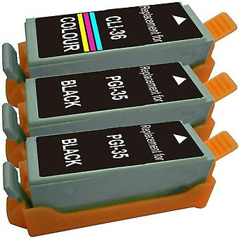PGI-35 CLI-36 Compatible Inkjet Cartridge Set  3 Cartridges