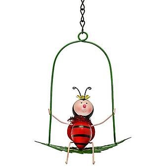 Garden Ladybird on Swing
