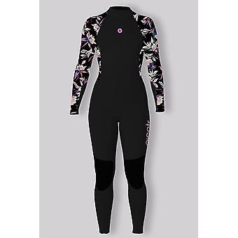 Sisstrevolution 7 seas 3/2 girls printed back zip wetsuit