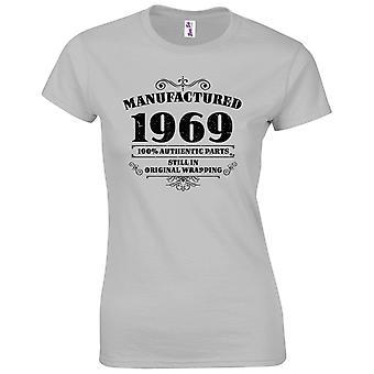 50 års fødselsdag gaver til kvinder hendes fremstillet 1969 T shirt