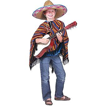 Bambini messicani Poncho Wild West Cowboy Carnevale Carnevale indiano