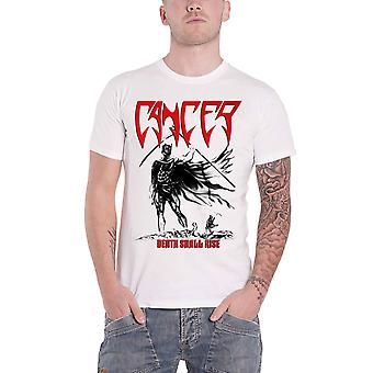 Cancer T Shirt Death Shall Rise Band Logo Death Metal new Official Mens White