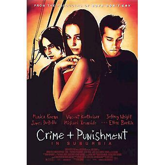 Misdaad en straf in Suburbia (dubbelzijdig regelmatig) originele Cinema poster