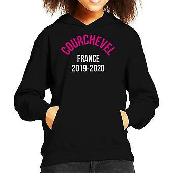 Courchevel France 2019 2020 Skiing Kid's Hooded Sweatshirt