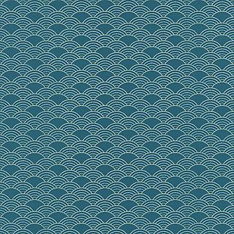 Modern Art Deco Waves Wallpaper Rasch