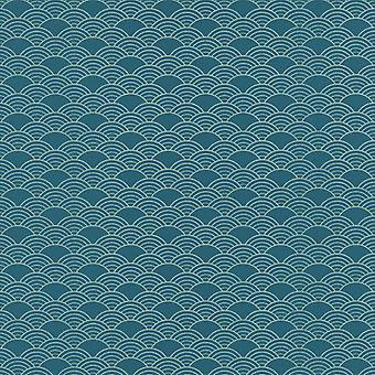 Moderne kunst Art Deco golven wallpaper Rasch