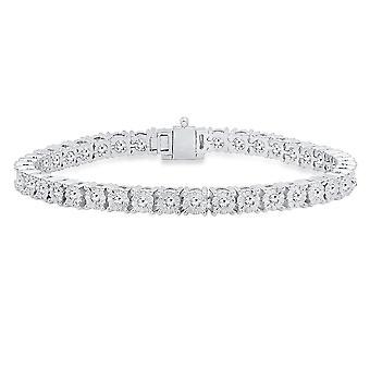 Dazzlingrock Collection 1.40 Carat (ctw) 14K Round Cut White Diamond Ladies Tennis Bracelet, White Gold