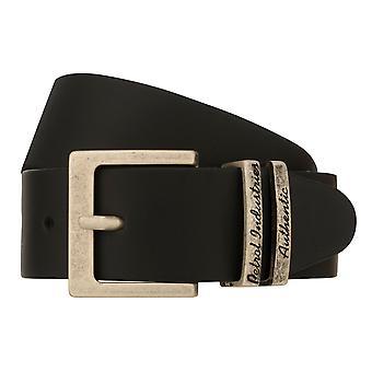 Teal Belt Men's Belt Leather Belt Denim Belt Black 8262