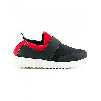 Made in Italia - Schuhe - Sneakers - LEANDRO_NERO_ROSSO - Herren - black,red - 46
